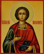 Рукописная икона Пантелеймон Целитель 6