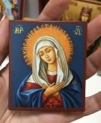 Рукописная икона Умиление миниатюра