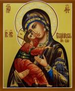 Рукописная Владимирская икона 10 (Размер 17*21 см)