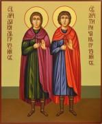 Рукописная икона Давид и Тиричан мученики грузинские