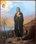 Рукописная икона Мария Египетская 5