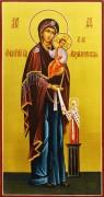 Рукописная икона Максимовская Божия Матерь