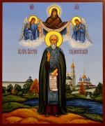 Рукописная икона Сергий Радонежский 11