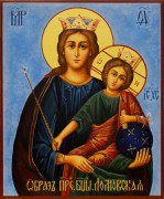 Рукописная икона Ломовская
