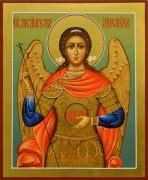 Рукописная икона Архангел Михаил 13 (Размер 17*21 см)