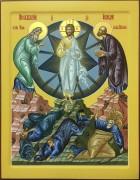Рукописная икона Преображение Господне