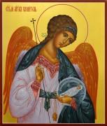 Рукописная икона Ангел Хранитель с Душой 33 (Размер 17*21 см)