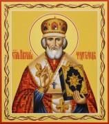 Рукописная икона Николай Чудотворец 27