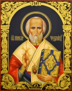 Рукописная икона Николай Чудотворец 27 (Размер 22*28 см)