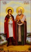 Мерная икона Антоний Карельский и Алексий Бортсурманский масло