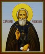 Рукописная икона Сергий Радонежский 12 (Размер 17*21 см)