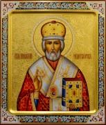 Рукописная икона Николай Чудотворец 29