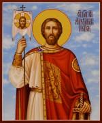 Рукописная икона Александр Невский 12