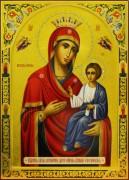Рукописная Иверская икона с резьбой 8