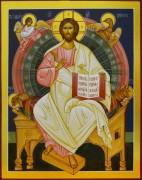Рукописная икона Спас в Силах 4