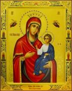 Рукописная Иверская икона с резьбой 9