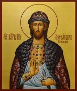 Рукописная икона Александр Невский 14 (Размер 17*21 см)