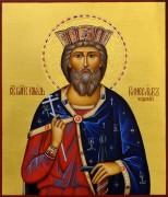 Рукописная икона Святой Вячеслав Чешский