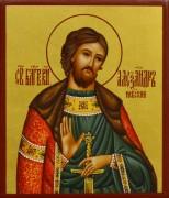 Рукописная икона Александр Невский 15