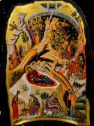 Греческая рукописная икона Рождество Христово (Размер 40*57 см)
