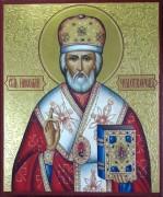 Рукописная икона Николай Чудотворец 31 (Размер 17*21 см)