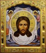 Рукописная икона Спас Нерукотворный 12 (Размер 27*31 см)