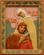 Резная икона Петр и Феврония 24 (Размер 26*32 см)