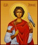 Рукописная икона мученик Трифон 7 (Размер 17*21 см)