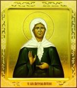 Рукописная икона Матрона Московская 12