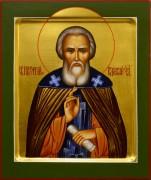 Рукописная икона Сергий Радонежский 13 (Размер 17*21 см)