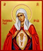 Рукописная икона Помощница в родах 3 (Размер 17*21 см)