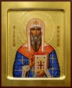 Рукописная икона Алексий митрополит Московский 5 (Размер 17*21 см)