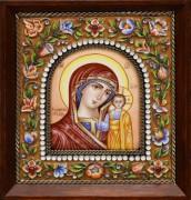 Икона из финифти Казанская 3