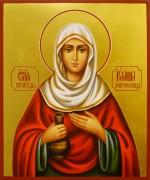 Рукописная икона Иоанна Мироносица