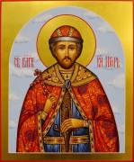 Рукописная икона Игорь Черниговский 4 (Размер 21*25 см)