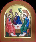 Рукописная икона Святая Троица 14