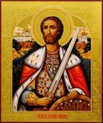 Рукописная икона Александр Невский 17