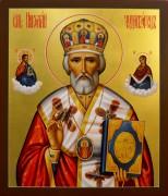 Рукописная икона Николай Чудотворец 37