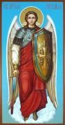 Рукописная икона Архангел Михаил 14 (Размер 13*25 см)