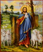 Рукописная икона Добрый Пастырь масло