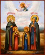 Рукописная икона Ксенофонт и Мария