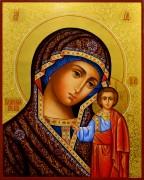 Рукописная Казанская икона с резьбой 28