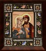 Икона из финифти Петр и Феврония