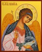 Рукописная икона Ангел Хранитель с Душой 46 (Размер 13*16 см)