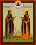 Рукописная икона Петр и Феврония 77 (Размер 17*21 см)