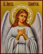 Рукописная икона Ангел Хранитель 50 с жемчугом (Размер 13*16 см)