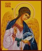 Рукописная икона Ангел Хранитель с Душой 51 (Размер 17*21 см)