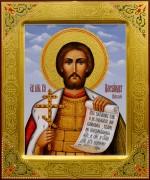 Рукописная икона Александр Невский 19 (Размер 21*25 см)