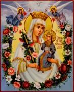Рукописная икона Неувядаемый Цвет масло 36 (Размер 17*21 см)
