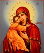 Рукописная Владимирская икона масло 14 (Размер 21*25 см)